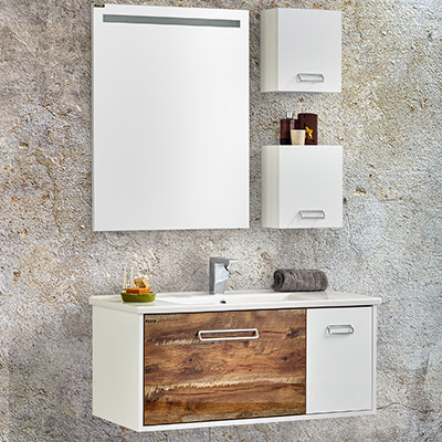 carierra 100 cm legno banyo dolabı