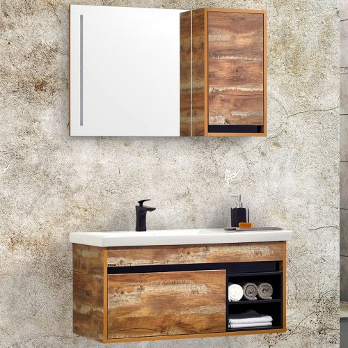 legno 100 cm banyo dolabı